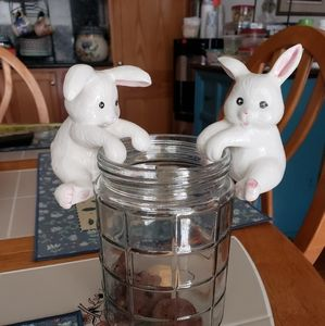 2 salt and pepper shakers Bunny rabbits They can h